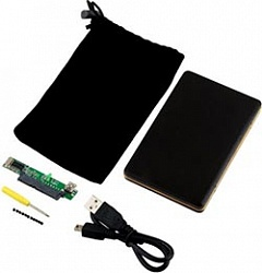 "USB 2.0 BOX for 2,5"" HDD SATA (metall, gold line)"